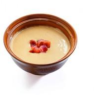 Сырный крем-суп с чипсами бекона Фото