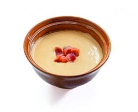 Сырный крем-суп с чипсами бекона - Фото