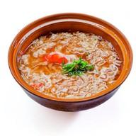 Суп с мясом краба и рисом Фото