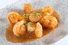 Морской гребешок с креветками - Фото