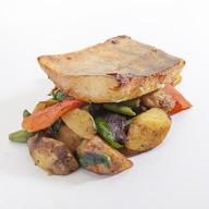 Судак в мисо-маринаде с овощами Фото
