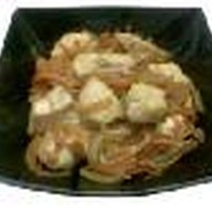 Жареная курица на рисе Фото