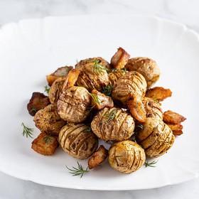 Картофель со свиным салом - Фото