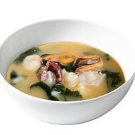 Мисо суп с морепродуктами Фото