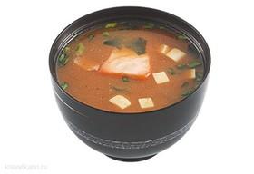 Мисо суп с лососем - Фото
