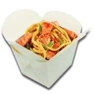 Лапша wok с лососем Фото