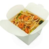 Лапша wok с креветками Фото