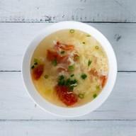 Суп с курицей и помидорами Фото
