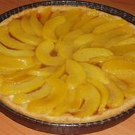 Пирог песочный с персиком Фото
