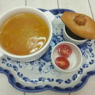 Суп-лапша с наваром из петуха Фото
