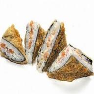 Сэндвич ролл с копченым лососем Фото