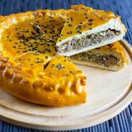 Пирог с печенью и яйцом Фото