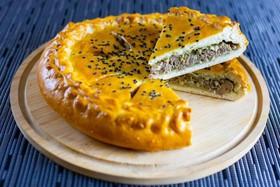 Пирог с печенью и яйцом - Фото
