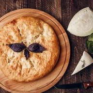 Пирог с беконом, курицей и сыром Фото