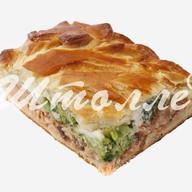 Пирог с брокколли и кетой Фото