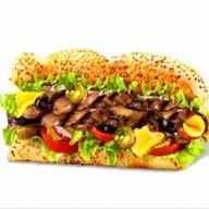 Сэндвич с шампиньонами гриль Фото