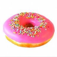 Пончик клубничный Фото
