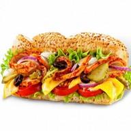 Сэндвич с бужениной и шампиньонами Фото