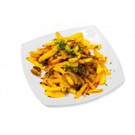 Картошка фри с грибами Фото
