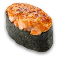 Гункан запеченный лосось Фото