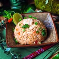 Тайский рис с курицей Фото