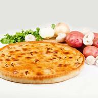 Постный пирог картофель с грибами Фото