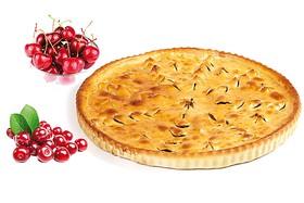 Постный пирог вишневый джин - Фото