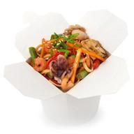 Вок с морепродуктами в устричном соусе Фото