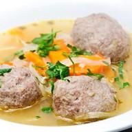 Суп-лапша домашняя с фрикадельками Фото
