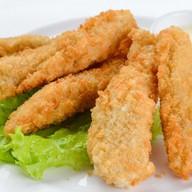 Хрустящие куриные палочки, сырный соус Фото