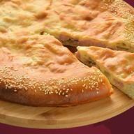 Пирог с ветчиной, сыром и грибами Фото