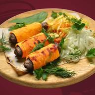Люля-кебаб из баранины в лаваше Фото