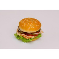 Два мяса-бургер Фото