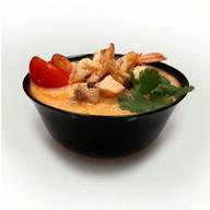 Том ям с морепродуктами и рисом Фото