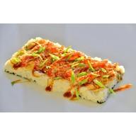 Суши-пицца с креветкой Фото