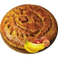 Пирог банан-яблоко (закрытый) Фото