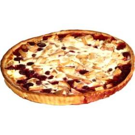 Пирог Вишня-яблоко открытый - Фото