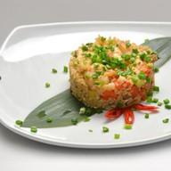 Рис с креветками и овощами Фото