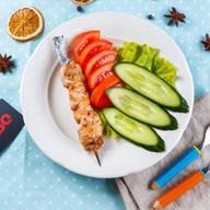 Шашлычок из цыпленка с овощами Фото
