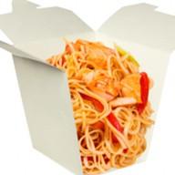 Лапша wok с морепродуктами Фото