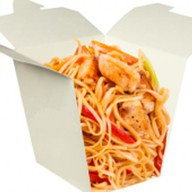 Лапша wok с курицей Фото