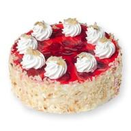 Йогуртовый — клубника торт Фото