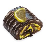 Шоколадно-лимонный рулет Фото