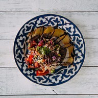 Теплый салат с языком Фото