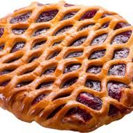Пирог с конфитюром малина Фото