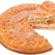 Пирог с мясом (свинина) и капустой Фото