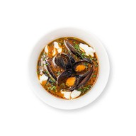 Томатный суп с мидиями Фото