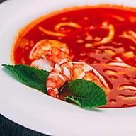 Чаудер с морепродуктами томатный Фото
