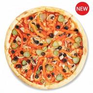 Вегетарианская пицца без сыра Фото
