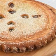 Пирог со сливой и персиком Фото